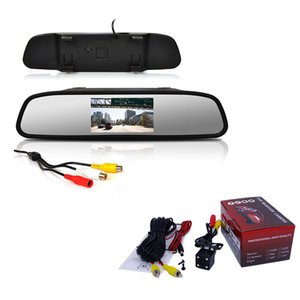 heap Car Video Jufvxeeb Viecar Car Rearview Mirror Monitor With Night Vision Reversing Rear View Camera 4.3 inch Screen display Mirror M...