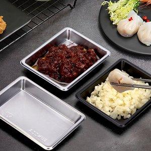 Desechable Sushi plato la salsa de soja rectángulo Ensalada Condimento Sal Contenedores Plato Restaurante Para llevar paquete KKA7982 Plato
