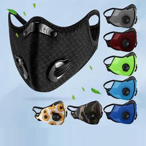 Maske Radfahren Aktivkohle Gesichtsmasken PM2.5-Antistaub-Sport Mundmaske laufende Trainings-Bike Schutzmaske Selbst Kauf Filter LSK475
