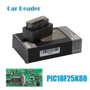 Codice ELM327 V1.5 Bluetooth PIC18F25K80 OBD scanner strumento diagnostico auto 327 per i protocolli J1850 Android