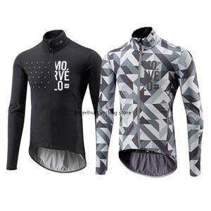 2020 neue Frühling / Herbst-Männer Morvelo Maillots Ciclismo Langarm-Radtrikot Shirts MTB Mountainbike Tops Bekleidung