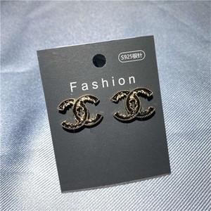 2020 das mulheres da menina de Moda de Nova Branco Rhinestone cristal redonda de metal Zircon Ear brincos Patry Brinco Jóias