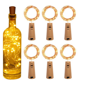 20 LED Solar Wine Bottle Stopper Copper Fairy Strip Wire Outdoor Party Decoration Novelty Night Lamp DIY Cork Light String