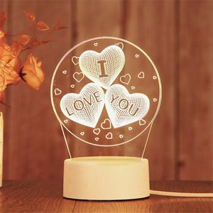 3D Night LED Light Lamp Base LED 3D Illusion Night Lights 7 Colors Changing for bedroom child room living shop cafe office battery operate