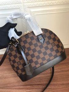 2020 hot classic colors brwon letter logo leather women handbag fashion men leather shouler bag free shipping 25-19-12cm N41221