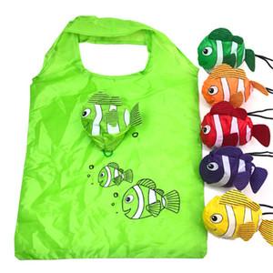 Bagaj Çanta Naylon Yeniden kullanılabilir Alışveriş Çantaları Katlanabilir Eko Çanta Tropikal Balık Tote Büyük Kapasiteli Gül Depolama Çantalar Geri Dönüşüm Kılıfı