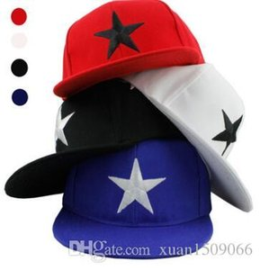 Korean version of trendy boys and girls embroidery five-pointed stars flat along hip-hop children's baseball caps