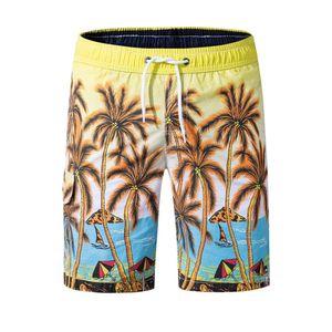 Men Beach Shorts Bermuda Swimwears Summer Swimming Trunks Water Sports Underwear Casual Shorts Printing Elastic Waist Sportswear
