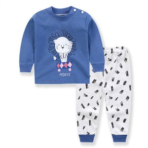 Abbigliamento progettista di marca vestiti del bambino Boy Set abbigliamento per neonati abito fresco Lion Stampa T-shirt + Bambino bambini Suit Pant