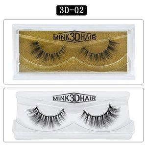 Vizon Saç 100 Gerçek Mink Kirpikleri Manuel Uzun ve Kalın 25MM 3D dost Uzatma Yanlış Eyelashes Yumuşak Skin kirpiklere Büyük 3D 25 Styles lashe