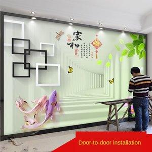 fVn8c TV 배경 벽 간단한 현대적인 벽화 5D 스테레오 거실 8D 고급 2020 영화 및 TV 벽 벽화 벽지 벽지 3D