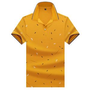 HEHU Männer Shirt Kurzarm Hemden der Männer beiläufige Mens-Kleidungs-Sommer-Männer Fashions Turn-down-Kragen Polos M-3XL