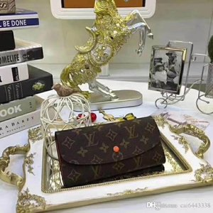 #8964 5A L Brand SARAH Women Wallet Button Long Emilie Exotic V Ladies Card Pouch Round Coin Purse M60531 M62236 M62234 M62235 N63208