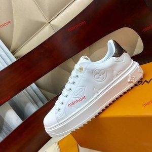 Горячие Женщины кроссовки SNEAKER TIME OUT progettista обувь тисненая кожа Платформа Женщины Черный Белый xshfbcl кроссовки