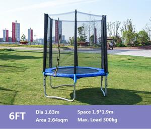 Trampolin mit Schutznetz 6FT / 72 Zinch Sets Familienspaß Erwachsene / Kinderübung aus dem Heraussenkungsspiel für USA