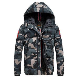 Casual Camouflage Men's Winter Jacket Thick Warm Male Coat Camo Hooded Cotton Windproof Parka Mens Overcoat