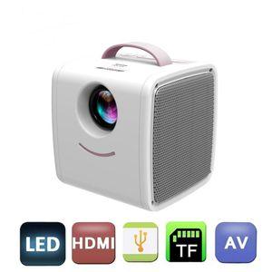 Q2 LCD Mini PROJECTEUR PORTABLE PORTABLE One Main Prise en charge 1080P Pochette VGA USB Full HD pour enfants Student Entertainment