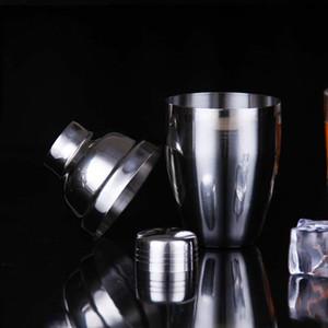 Stainless Steel Shaker Wine Cocktail Shaker Mixer Wine Martini Drinking Boston Style Shaker Party Bar Tool 8oz 12oz 18oz 25oz SEA DHC4768