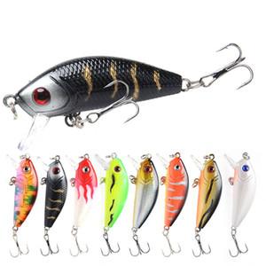 8 piezas de pescado mini simulación atraer a la pesca 5cm 3,8 g artificial Wobbler Crankbait cebo duro flotantes de pesca de cebo colorido Equipos de pesca