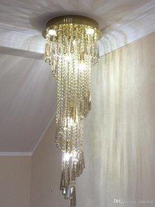 2020 nueva Lámpara moderna Por gris ahumado de cristal de lujo Cuerpo de iluminación largo Escalera interior de iluminación de la lámpara Corredor Villa