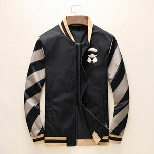 Fashion Jacket Windbreaker Long Sleeve Mens Jackets Hoodie Clothing Zipper with Animal Letter Pattern Plus Size Clothes M-3XL V6