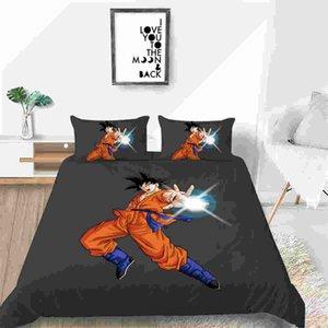 3D Dragon Ball Super-Bettwäsche-Set Super-Saiyajin Son Goku Printed Bettbezug-Set Pillowcase Twin Voll Chidren Bettwäsche
