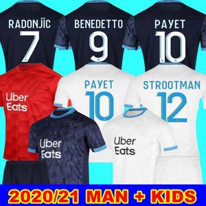 20 21 Marsiglia CASA LONTANO MAN + BAMBINI nuovo Olympique Marsiglia del pullover di calcio 2020 2021 Marsiglia Portiere THAUVIN SANSON BENPAYET BENEDETTO