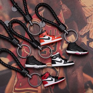 Wholesale DHL Shoe keychain Sneakers basketball sports shoes couple ornaments gift basketball game memorial universal iPhone 11 xs Samsung