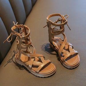 Girls Rome 2020 new children's bowknot Roman boots Sandals Roman boots girls Rome sandals