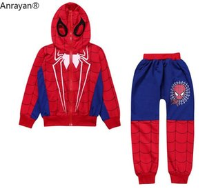 2020 Autumn Spring Baby Boy Clothes Set Infant Cotton Hooded Cartoon Suits Coat+Long Pants Fashion Kids Children Cloth