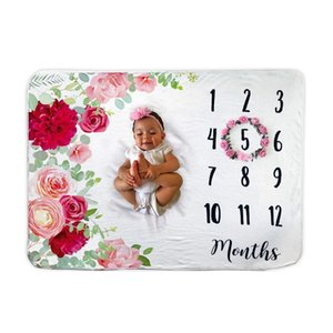 Baby Monthly Milestone Blanket 1 to 12 Months Premium Extra Soft Fleece Best Photography Backdrop Photo Prop for Newborn Baby Girl