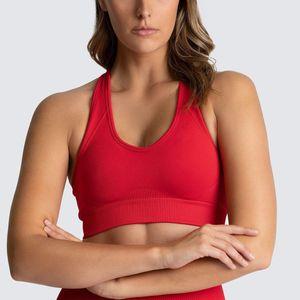 Yoga Tops Frauen nahtloser Büstenhalter Sports Wear Designer Fitness BH Fitnessbekleidung Designer Yoga Outfits Red Breath Großhandel