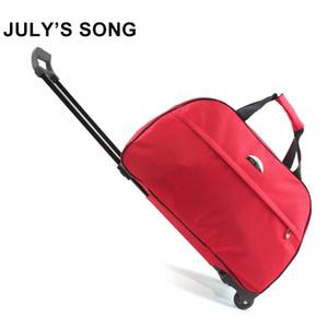 Song julho oxford rolamento bagagem saco de viagem mala de viagem com rodas de carrinhos de bagagem para homens / mulheres Carry On Malas de Viagem CX200718