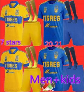 Yetişkin ve Çocuklar 2020 2021 UANL Tigres Gignac Futbol Formalar Kitleri 20 21 Vargas Camiseta Maillot Eve Uzakta Üçüncü Pizarro Meksika Futbol Gömlekleri