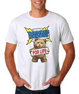 Trovão Amigos para a vida T-shirt College Humor Teddy Bear engraçado
