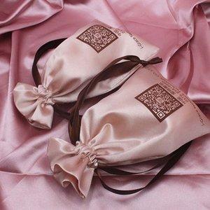 Eyeglasses Underwear storage wig silk-like storage rope bag satin cloth underwear dust-proof satin bag