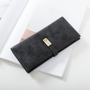 2020 nouvelle carte rétro légère mode coréenne portefeuille longue bourse femmes givrée sac boucle étudiant Wallet