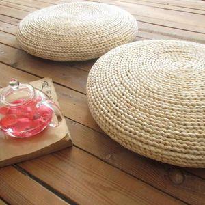 Naturale Pouf rotonda fatta a mano Cuscino Tessitura naturale della paglia meditazione cuscino delicatamente Piano Yoga sede della sedia tatami Window Pad