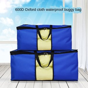 7SXLS Super large quilt storage 600d waterproof Oxford cloth moving packing moisture-proof packaging oxford cloth packaging bag clothes cott