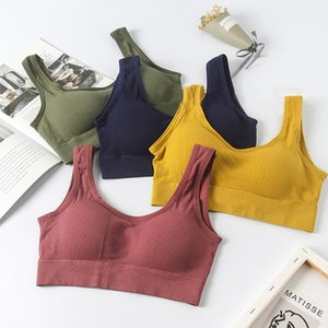 Women Sports Bra High Stretch Breathable Top Fitness Running Yoga Gym Sports Top Vest Anti-sweat Shockproof Padded Sportswear h