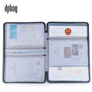 dGoRp licencia comercial dpbag tres certificados titular del billete de entradas en una bolsa de almacenamiento de almacenamiento de clip de la factura certificado de calidad titular de pliegue