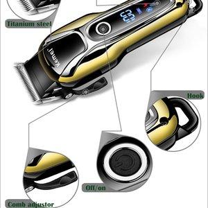 Kemei Km1990 машинки для стрижки волос Профессиональный триммер волос Мужчины Beard Бритва электрическая машинка для стрижки волос LCD монитор 0 Мм Лысый Beard Trimmer 5 wxYgt