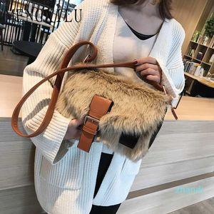 Großhandels-Heißer Verkauf neuer Winter Crossbodybag Frauen sacken Luxus Frauen Handtaschen-Geldbeutel-Entwerfer-Marken-Damen-Pelz-Schulter-Kurier-Taschen