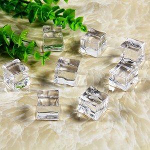 CONSUMATORI Elettronica 10pcs / kit artificiale Ice Cubes acrilico falso di fondo in cristallo ornamento di ripresa Puntelli Fotografia per Frutta Bevande ...