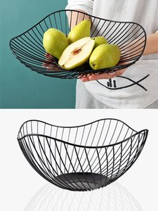 Modern Artist Nordic Home Tablewares Metal Dry Fruit Plate For Baby Snack Fruit Bowl Iron Crafts frutero metalico T200617