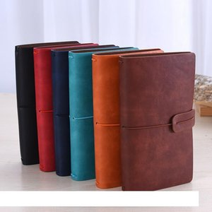 Solid Color Leather Notebook Handmade Vintage Diary Journal Books Retro Travel Notepad Sketchbook Office School Supplies Gift DBC VT0939
