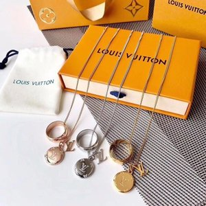 LOUISVUITTON designer di gioielli hip hop collana progettista farfalla ghiacciato fuori mens ciondolo 14k catene d'oro lettera iniziale P14