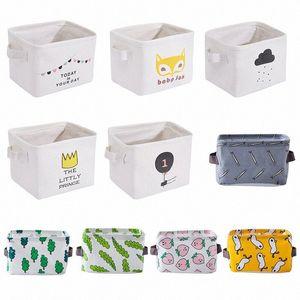 Fresh Fabric Desktop Storage Box Cosmetic Bag 72QP#