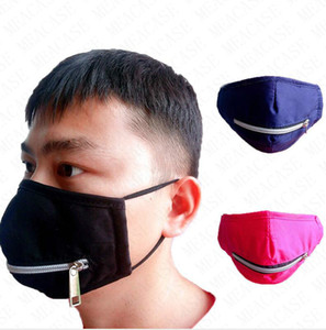Zipper Face Mask Washable Eat Drink In Public Quick Dry Masks with Zip Solid Color Outdoor Cycling Mouth Cover Scarf Boutique Cotton D71508