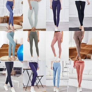 designer luxury lu  women lulu gym leggings shorts womens yoga pants yogaworld stacked leggings de marque sport femmes fitness